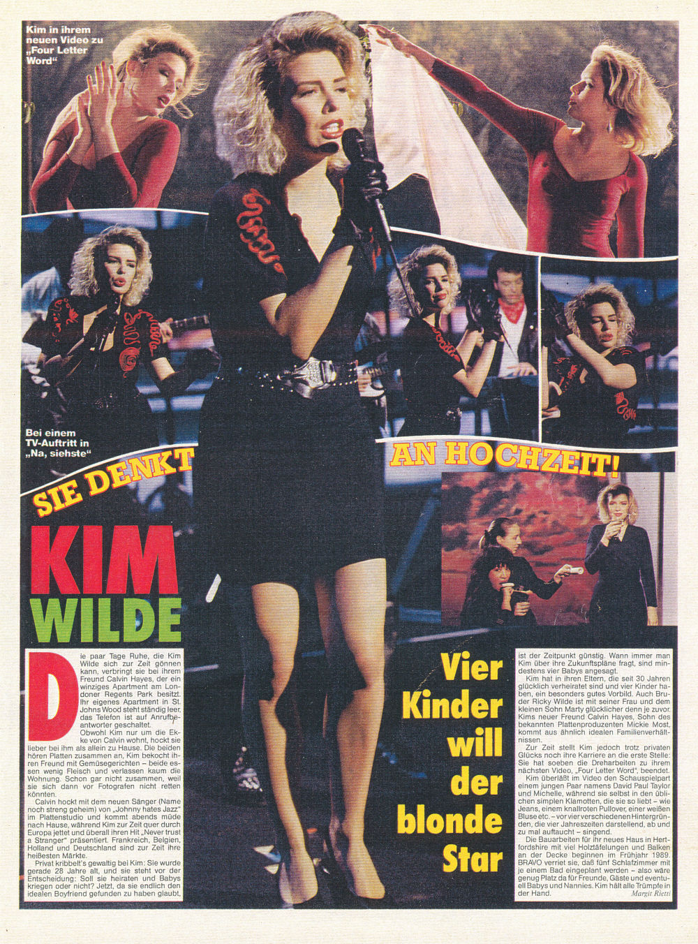 Kim Wilde She S Thinking About Marriage Wilde Life
