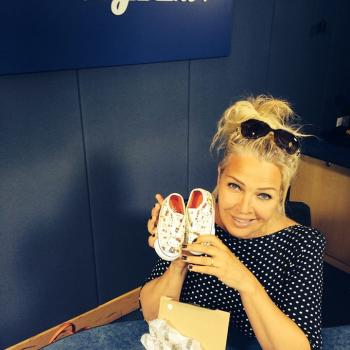 "Hi, it's Kim Wilde here. What are you up to? I've got loads of great requests to get through today including ""These Boots Are Made For Walking!"" which is so apt 'cos I just picked up this little pair for my niece Ophelia who was 1yr old this weekend. How cute are they?!!! Looking ahead to next week already - get your requests in for FATHER'S DAY at www.magic.co.uk/kimwilde"