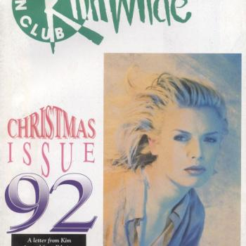 Kim Wilde Fanclub magazine Christmas 1992