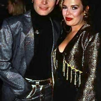 Adam Ant and Kim in 1990