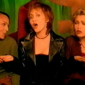 Kim Wilde, Lulu and Kim Appleby in the music video for 'Every woman knows'