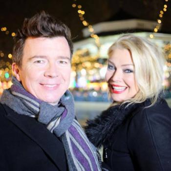 Rick Astley and Kim Wilde at Winter Wonderland in Hyde Park, London, December 2013