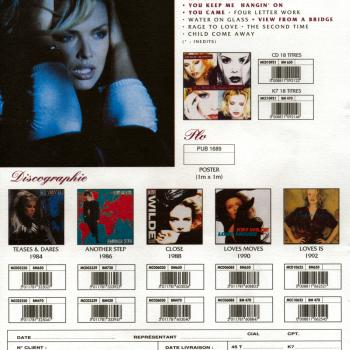 'Because the night' announced on a French shop release sheet for 'The Singles 1981-1993' (sic)
