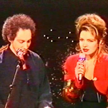 Michel Berger and Kim in the French TV programme 'Champs Elysees', May 12, 1990.