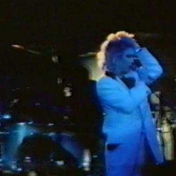 Kim singing 'Bladerunner' live, as shown in the German TV programme Schulerexpress, April 11, 1985