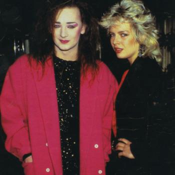 Kim and Boy George in 1984