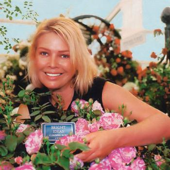 Kim Wilde with the Bright Ideas rose