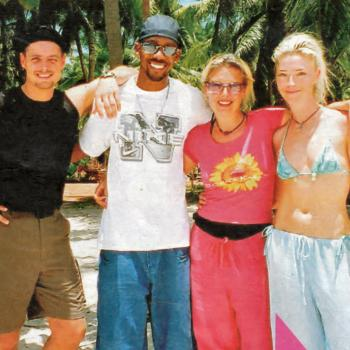 Keith Duffy, Richard Blackwood, Kim and Tamara Beckwith