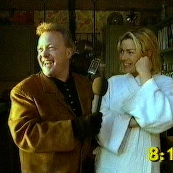 Keith Chegwin and Kim Wilde in The Big Breakfast, December 6, 1994