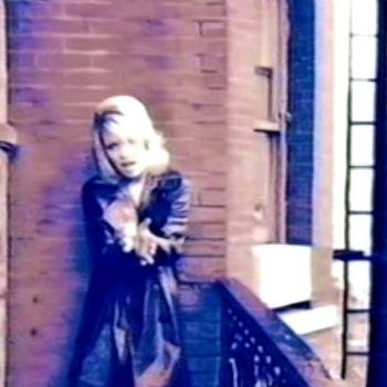 Kim at the Chelsea Hotel. Still from 'This I swear' music video.