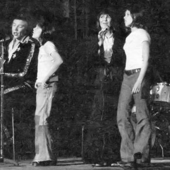 Marty, Ricky, Joyce and Kim live on stage during the 1970's