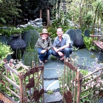 Kim and Richard Lucas in their Cumbrian Fellside Garden, May 2005