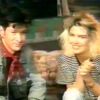 Kim and Etienne Daho presenting for MTV Europe, 1988
