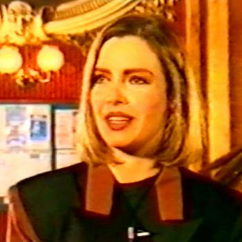 Kim, interviewed at the Hackney Empire where she would perform 'Dancing in the street'