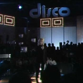 Kim performing in the Disco studio