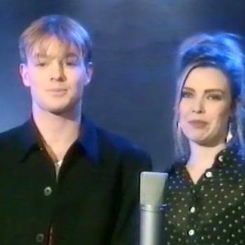 Jason Donovan and Kim Wilde in Amnesty's 'The Big 30'