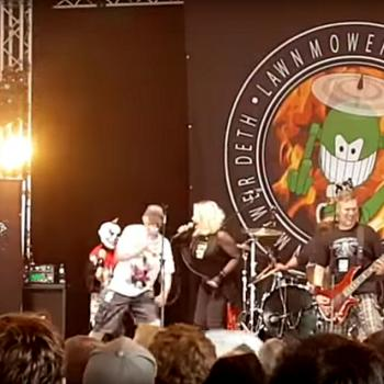 Lawnmower Deth and Kim Wilde performing 'Egg sandwich' on June 11, 2016