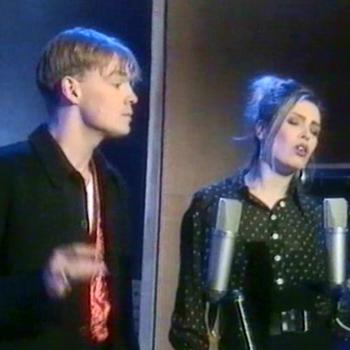 Kim and Jason Donovan performing 'Harvest for the world' on 'The big 30', December 28, 1991.