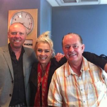 Glenn Gregory and Martyn Ware from Heaven 17 with Kim Wilde