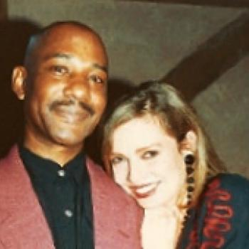Kim with Errol Brown from Hot Chocolate