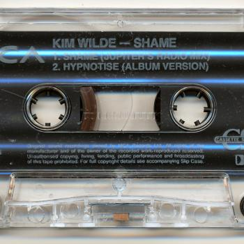 Cassette single of 'Shame', featuring 'Hypnotise'