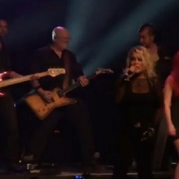 Kim performing 'I touch myself' live at Enmore Theatre, Sydney (Australia)
