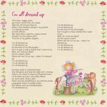 Lyrics of 'I'm all dressed up' in the cd booklet of 'Princess Lillifee'