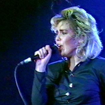 Kim performing 'I've got so much love' at Golddiggers, Chippenham (UK), December 31, 1986