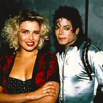 Kim Wilde and Michael Jackson in 1988