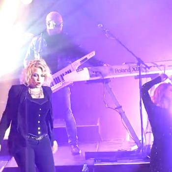 Kim performing 'Just what I needed' at the Columbiahalle in Berlin (Germany), March 15, 2012