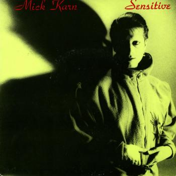 Sleeve of Mick Karn's single 'Sensitive', produced by Ricky Wilde