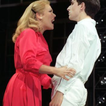 Kim and Paul Keating on stage during 'Tommy'
