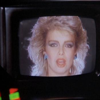 Still from 'Knight rider' episode 'Knight racer', featuring Kim Wilde
