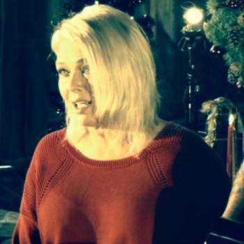 Screenshot from the music video for 'Last Christmas'
