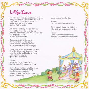 Lyrics of 'Lillifee dance' in the cd booklet of 'Princess Lillifee'