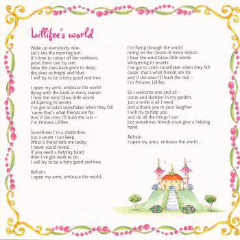 Lyrics of 'Lillifee's world' in the cd booklet of 'Princess Lillifee'