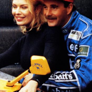Kim Wilde and Nigel Mansell, 1992