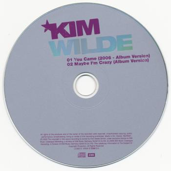 CD-single of 'You came (2006)' featuring 'Maybe I'm crazy' as track 2