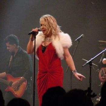 Kim performing 'Merry Christmas everybody' live at Ankerhal, Saasveld (Netherlands), December 14, 2013