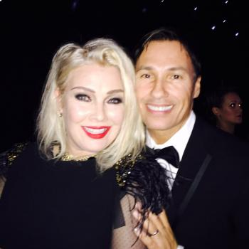 Nathan Moore and Kim Wilde at the Wilde Winter Ball, 28 November 2015