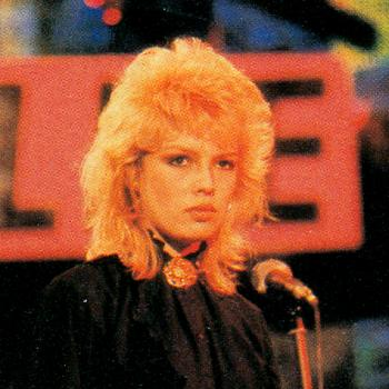 Kim during a performance in Musikladen, 1981