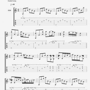 Sheet music for 'Nothing else matters'