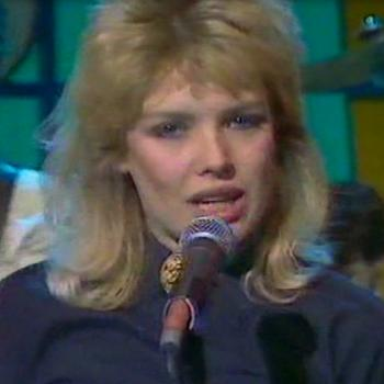 Kim during her first performance in Razzmatazz, 1981