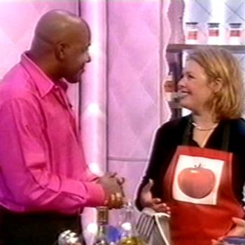Kim and Ainsley Harriott in Ready Steady Cook, BBC (UK), November 9, 2001