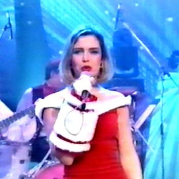 Kim Wilde performing 'Santa Claus is coming to town' on Tonight with Jonathan Ross, December 24, 1990