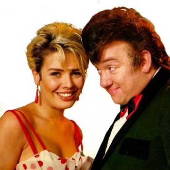 Kim Wilde and Mel Smith in 1987