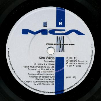 Label for 'Someday' on the B-side of 'Can't get enough (of your love)' in Europe