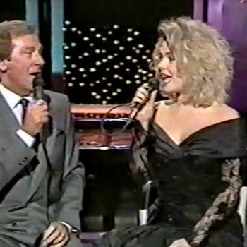 Kim Wilde and Des O'Connor performing 'Something Stupid'