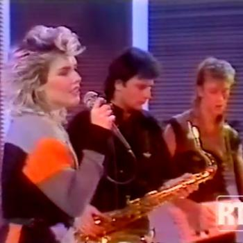 Kim performing 'Suburbs of Moscow' on 'Chewing Rock', November 17, 1984
