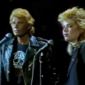 Kim and Johnny Hallyday performing 'Teddy Bear' in 1982